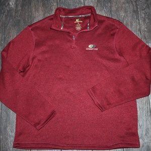 NWOT Mossy Oak Quarter Zip Burgundy Sweater XL